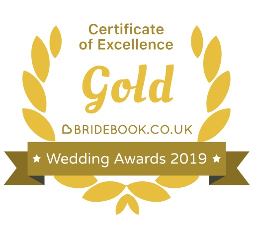 AG Studio BRIDEBOOK.CO.UK Gold Certificate of Excellence